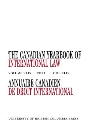 The Canadian Yearbook of International Law, Vol. 49, 2011
