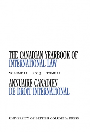 The Canadian Yearbook of International Law, Vol. 51